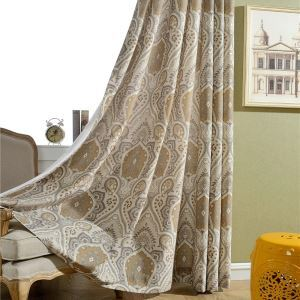 Rideau tamisant écologique imprimé magnifique pour chambre à coucher américain