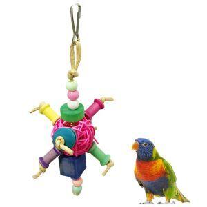 Boule en rotin perroquet jouet mordillant pour perroquet