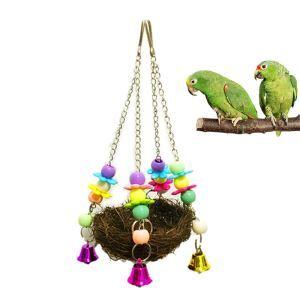 Balançoire de paille support de station jouet pour perroquet