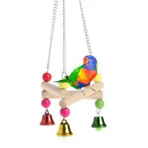 Support de station en bois triangulaire perroquet