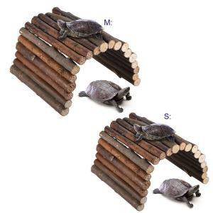 Palissade en bois échelle d'escalade jouet pour tortue hamster