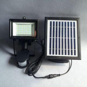Lumière d'énergie solaire en aluminium L19.5cm noir pour cour extérieur