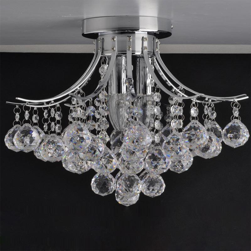 plafonnier cristal 3 lampes d 38 cm pour salle pas cher. Black Bedroom Furniture Sets. Home Design Ideas
