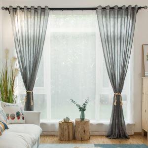 Voilage gris pour chambre à coucher classique japonais