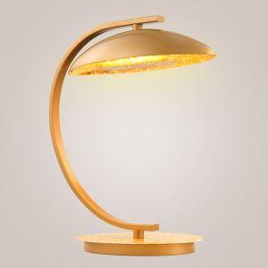 Lampe à poser LED en fer H40cm or simple pour salon chambre