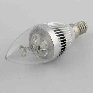 4 Ampoules LED bougie argent 3W E14 270 LM pour lustre cristal
