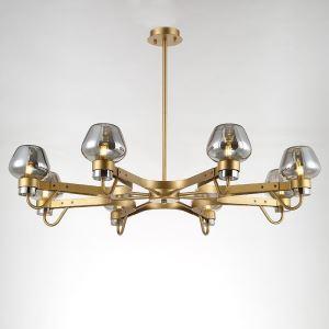 Lustre 8 lampes en verre D99cm pour salon cuisine