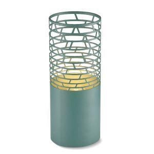 Lampe à poser ferronnerie en acrylique H30/26/36cm vert pour salon chambre