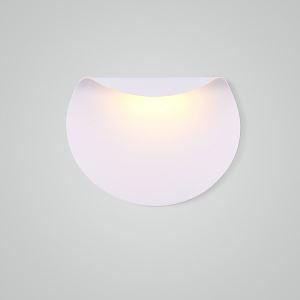 Applique murale LED en acrylique L30cm rond plié blanc pour chambre salle