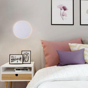 Applique murale LED en acrylique D20cm rond blanc pour chambre salle