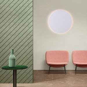 Applique murale LED en acrylique D25cm rond blanc pour chambre salle