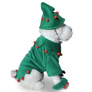 Robe chien Noël vert décoration bon design
