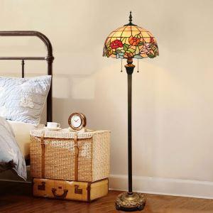 Lampadaire tiffany en verre H165cm belle de jour coloré pour salle
