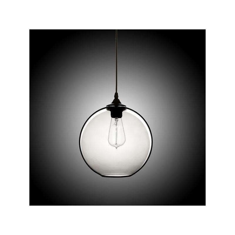 suspension boule verre d25cm 60w bulle coloris luminaire cuisine d coratif pas cher. Black Bedroom Furniture Sets. Home Design Ideas