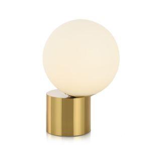 Lampe à poser en métal bulle en verre H30cm base or pour chevet chambre simple