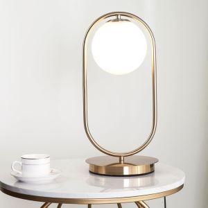 Lampe à poser en métal bulle en verre H45cm pour salon bureau simple