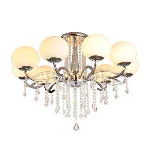 Lustre cristal à 9 lampes D90cm pour salon moderne