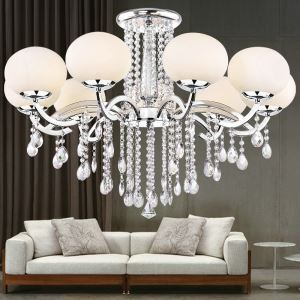 Lustre baroque cristal à 9 lampes D90cm pour salon moderne