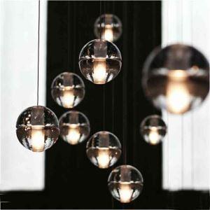 Suspension bulle cristal verre décoratif pour chambre salon