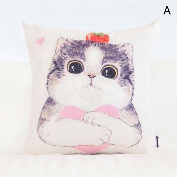 taie de coussin oreiller lombaire petit animal rose mignon romantique. Black Bedroom Furniture Sets. Home Design Ideas