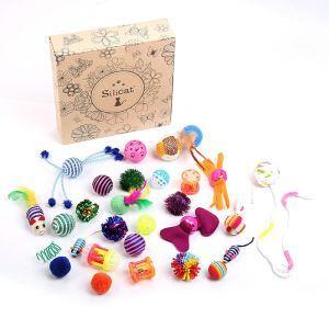 Ensemble de 20 jouets petit boule pour chat