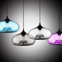 Lustre en verre D28cm moderne décoratif suspension en conception de bulle luminaire cuisine lampe pour salle chambre