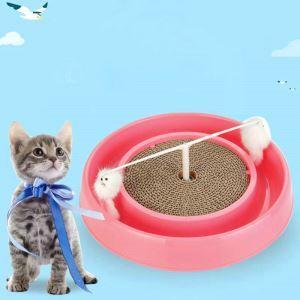 Jouet de chat plaque à griffes en carton ondulé plastique