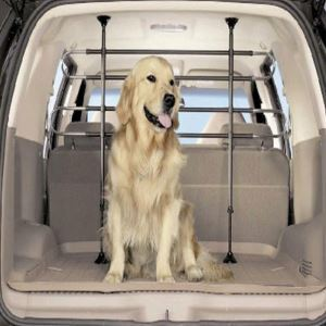 Barrière d'isolation de voiture pour animaux de compagnie en acier inoxydable
