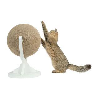 Boule à griffes rotatif en sisal bois pour chat