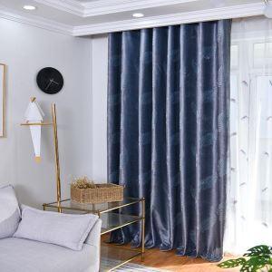 Rideau tamisant ciselant feuille pour chambre à coucher simple moderne