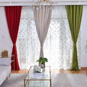 Rideau tamisant ciselant motif géométrique pour chambre à coucher simple moderne