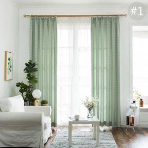 Rideau tamisant jacquard carreau petit pour chambre à coucher simple classique