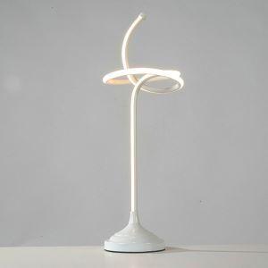 Lampe à poser LED en fer aluminium abat-jour d'acrylique H60cm noeud de corde pour salon chambre