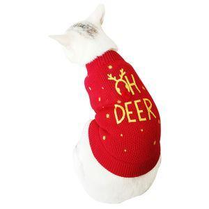 Pull de chien chat anglais pour Noël