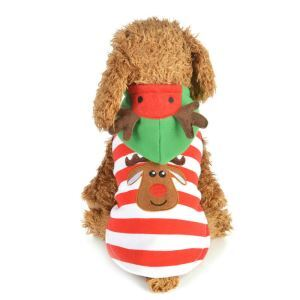 Robe de Noël Elk pour chat petit chien
