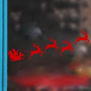 Sticker Père Noël et Elk livraison gratuite