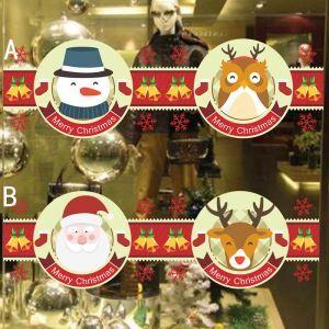 Sticker Père Noël et Elk hibou livraison gratuite