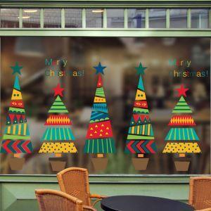 Sticker sapin Noël coloré livraison gratuite