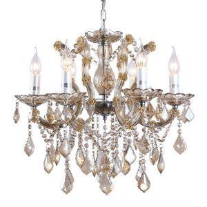 Lustre baroque en cristal de luxe à 6 lumières D 57 cm pour salle salon luxe