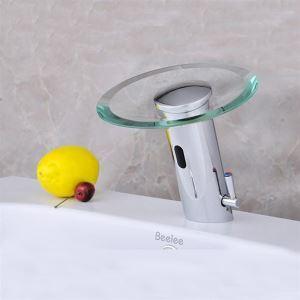 Mitigeur de lavabo avec capteur cascade H 17 cm pour salle de bains