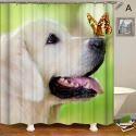 Rideau de douche impression 3D 4 modèles chien pour salle de bain imperméable anti-moisissure