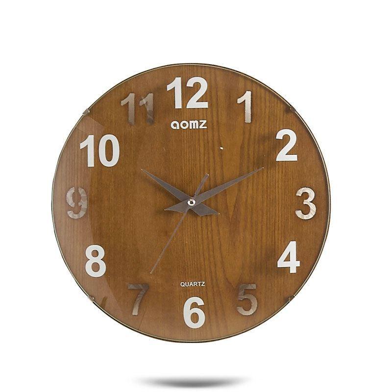 horloge murale silencieuse en acrylique rond 2 mod les simple moderne. Black Bedroom Furniture Sets. Home Design Ideas