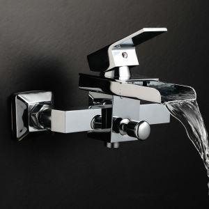 Robinet de baignoire cascade 2 trous contemporain pour salle de bain