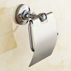 Porte de papier toilettes en cuivre chromé pour salle de bain