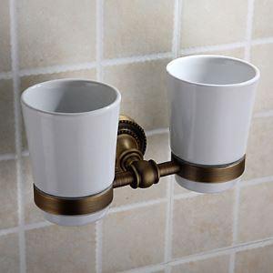 (Entrepôt UE) Accessoires de salle de bain laiton massif porte-brosses à dents