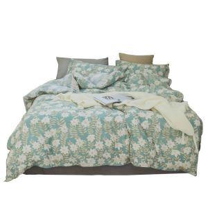 Housse de couette 200*230cm 220*240cm 1 drap 2 taies d'oreiller en coton 2 modèles petite fleur