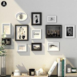 Cadre photo 12 vues en bois 3 modèles pour salle chambre