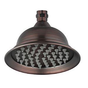 (Entrepôt UE) Fini bronze antique 6 pouces en laiton Pommeau de douche pluie