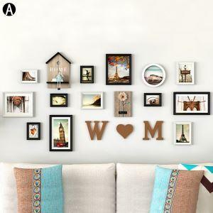 Cadre photo 13 vues en bois 4 modèles pour salle chambre
