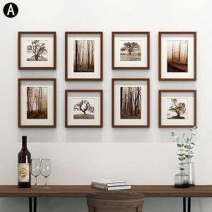 Cadre photo 8 vues en bois 4 modèles pour salle chambre